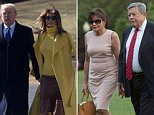 PAPERS IN ORDER:Viktor Knavs and Amalija Knavs, parents of U.S. first lady Melania Trump, arrive at the White House with the first family June 11, 2017 in Washington, DC
