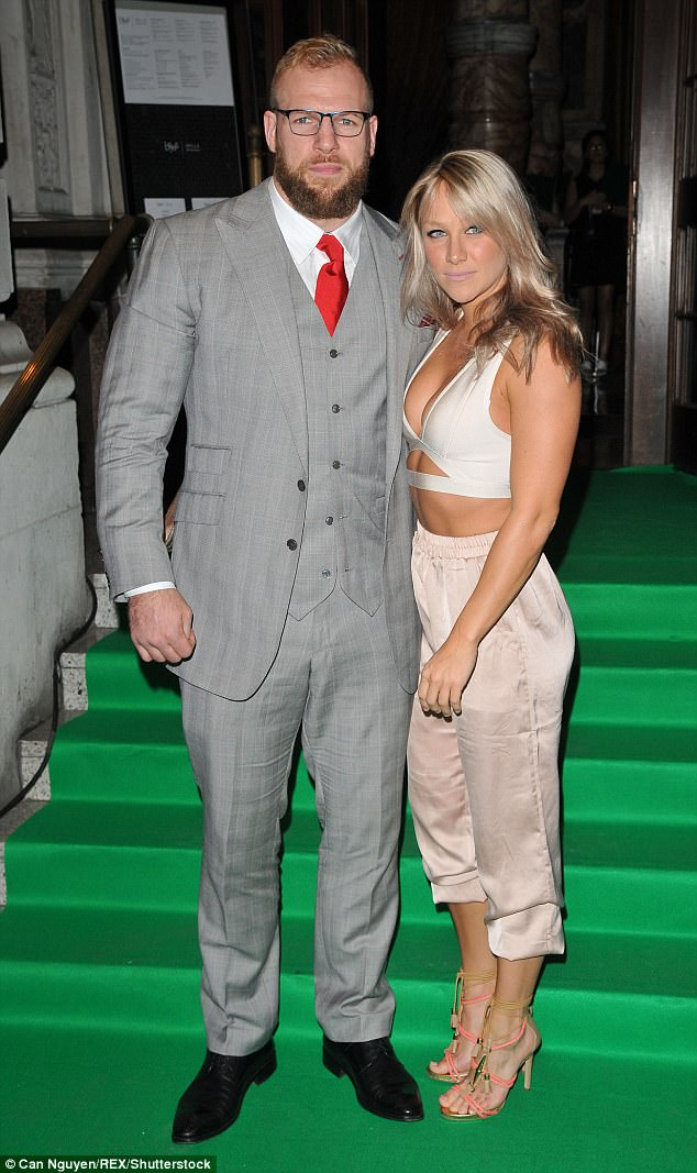 Still going strong: Chloe recently revealed to New!  that her rugby player beau always spurs her on in the gym - but never makes her feel insecure or pressured to look a certain way