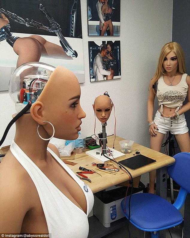 Realbotix already produces the controversial 'Harmony', a female robot with dozens of interchangeable parts. The market for 'sexbots' is currently 95 per cent male-dominated