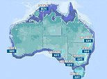 A map showing the lowest July temperatures ever recorded for major cities, according to the Bureau of Meteorology