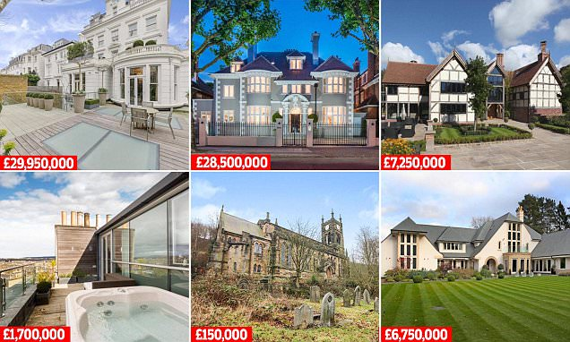 Most viewed properties for sale in Britain in 2017