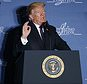 President Donald Trump speaks at the Latino Coalition Legislative Summit, Wednesday, March 7, 2018, in Washington. (AP Photo/Evan Vucci)