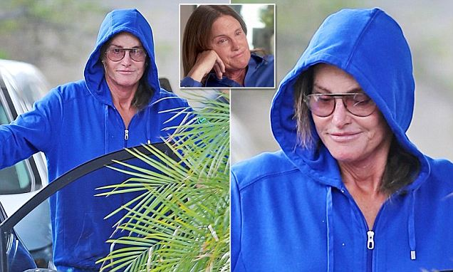 Bruce Jenner emerges for the first time since revealing he is a woman... looking as if the