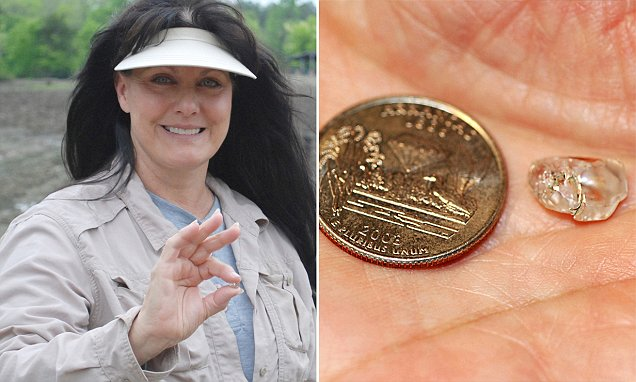 Woman unearths a whopping 3.69 white diamond worth $20,000 at famed Arkansas state park