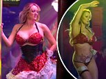 Daniels, 38, performed on Friday night at the Solid Gold strip club in Pompano Beach, Florida