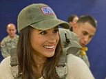 Prince Harry's 36-year-old fiancée spent two days in the Herefordshire countryside with Britain's elite special forces. Pictured: Meghan with the US Army