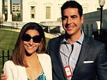 Noelle and Jesse Watters are seen at the White House in a photo posted to Facebook in 2016. The couple are in the midst of a divorce fight after Jesse Watters cheated with an employee