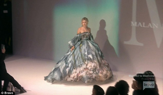 Catwalk princess: The teenager stunned in several outfits during the show