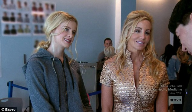 Teen model: Camille Grammer supported her model daughter Mason, 16, at NYFW