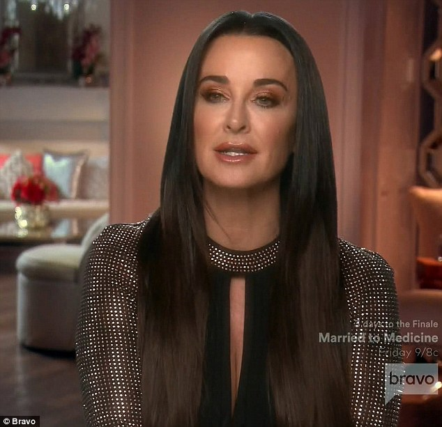 Taking it: The apology from Vanderpump was gladly accepted by Kyle