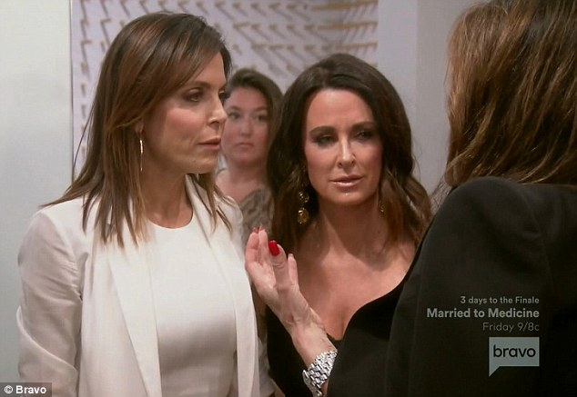 East versus West: Bethenny Frankel and Lisa Vanderpump faced off on Tuesday's episode of The Real Housewives Of Beverly Hills