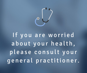 If you are worried about your health, please consult your general practitioner.