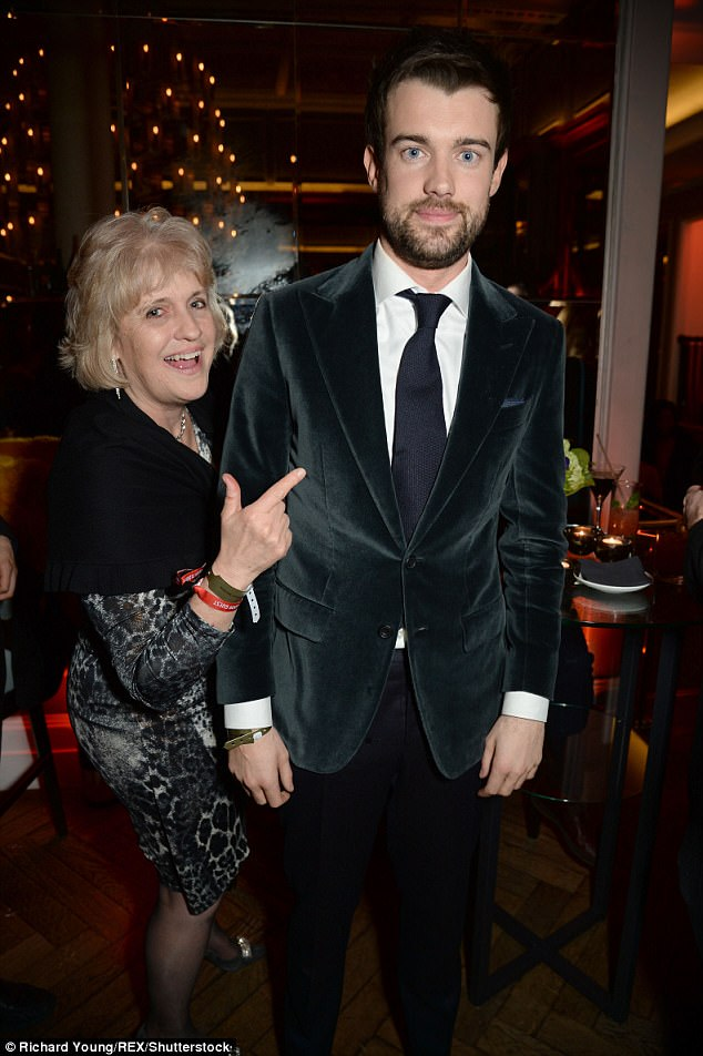 Mum and son: BRIT host Jack Whitehall may have been the man of the evening, but he still brought along mum Hilary Amanda Jane to the star-studded after party