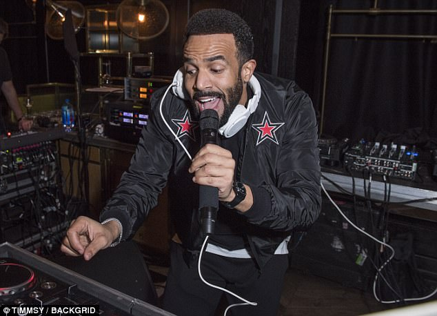 Hit maker: Craig wowed the crowds with his musical creations as he DJ'd for the exclusive event