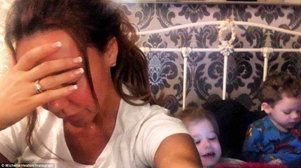 Send help! TV personality Michelle Heaton was already lamenting the walk of shame school run with her kids