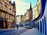 Edinburgh (pictured) was revealed as the most attractive place to live and work in the whole of the UK