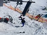 The malfunctioning lift - operating much faster than normal - sent skiers flying in all directions