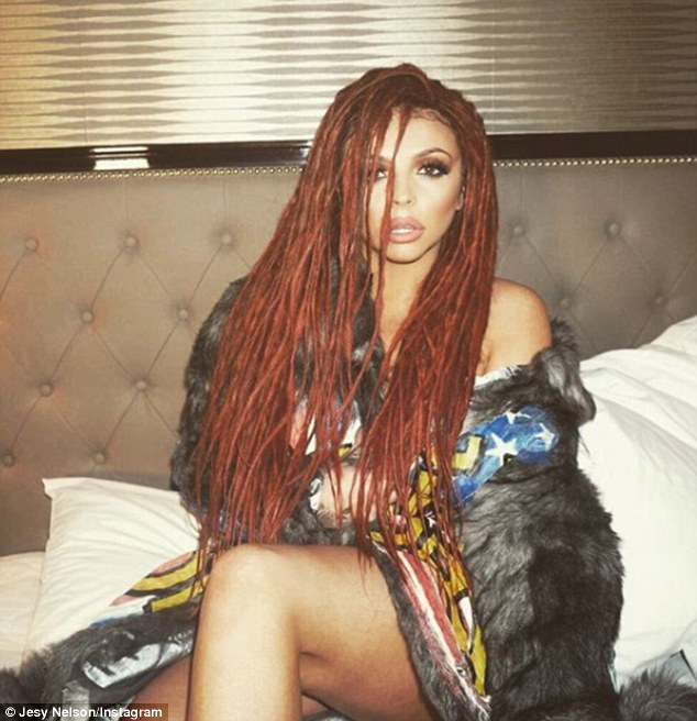 New look: The awkward joke comes after Jesy was accused of 'cultural appropriation', when she wore her hair in twists
