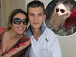 Elizabeth Hurley said her nephew Miles (pictured together) was set upon by four 'animals'