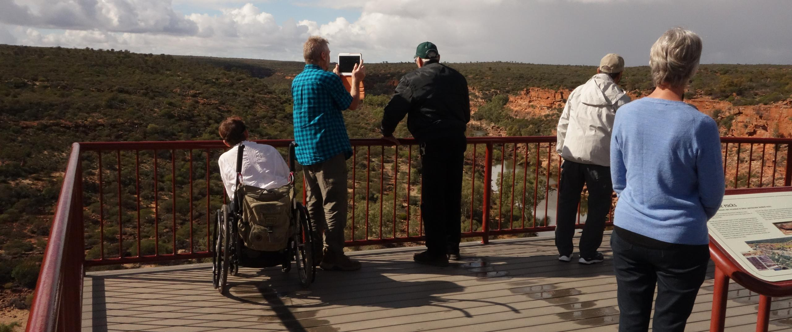 Accessible lookout at Hawks Head -Kalbarri National Park