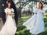 Shelby Sander, who is engaged to be married, used her mom's wedding dress in a surprise photo shoot for her dad