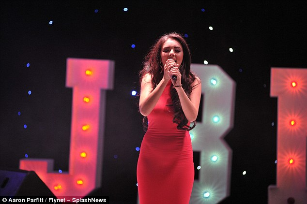 Also taking the stage: One-time contestant of The Voice, Lydia Lucy, was also performing