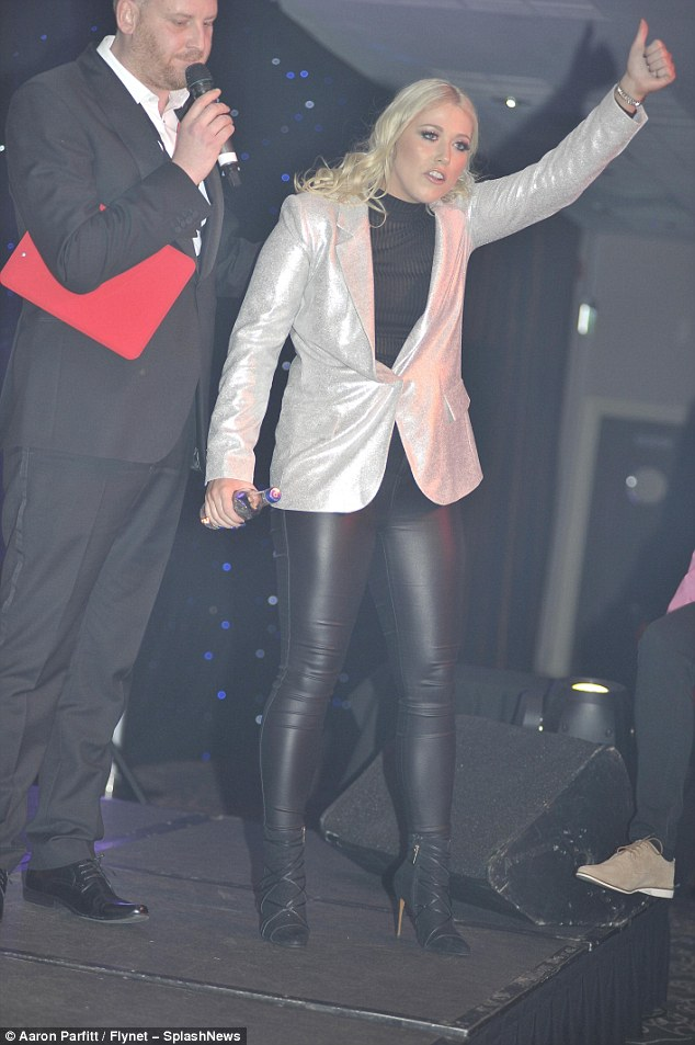 Rocking it: The charity ball was held at the Crown Plaza Hotel in London