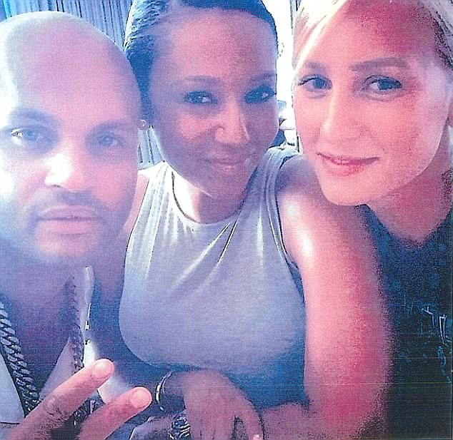 Allegations claiming Gilles (right) enjoyed threesome sex with Mel (center) and Belafonte (left) at their Hollywood home, fell pregnant with Belafonte's baby and that the former nanny even had a seven-year lesbian affair with Mel while she worked for the celebrity couple, piled pressure on her marriage to Bleau