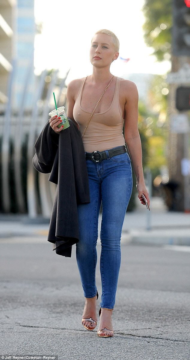 Spotted: Mel B's former nanny Lorraine Gilles, 26, cut a pensive figure as she headed out in the Beverly Hills sunshine on Wednesday evening