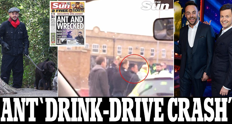 Ant McPartlin 'is arrested for drink driving'