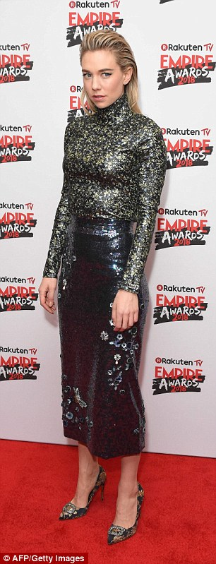Glamorous: The TV favourite looked incredible in the butterfly embellished number