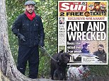 Monday's Sun newspaper had a picture of the star being arrested this afternoon