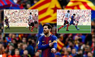 Barcelona 2-0 Athletic Bilbao: Lionel Messi and Paco Alcacer strike
