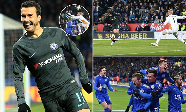Leicester 1-2 Chelsea (AET): Pedro plays the FA Cup hero