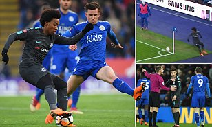 Jamie Vardy vs VAR and Willian in tights as Chelsea beat Leicester