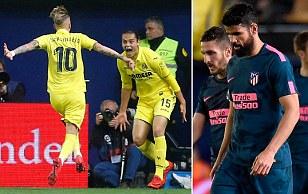Villarreal 2-1 Atletico Madrid: Title hopes fade for Simeone's side
