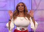 Back in action: Wendy Williams kicked off her show on Monday (above) by thanking Jerry O'Connell for filling in and then got right to work talking about celebrity break-ups she missed while away
