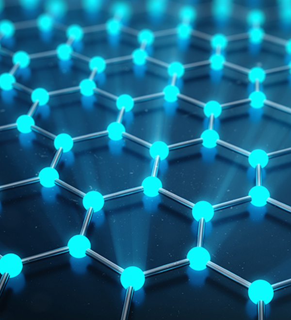 3-D rendering of the atomic structure of graphene