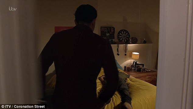 The show closed as Josh stood over David lying on the bed and slammed the door