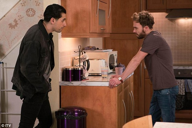 Uncomfortable: Next week fans will see David struggle to cope with what he has been through, especially as Josh acts as if nothing untoward has happened