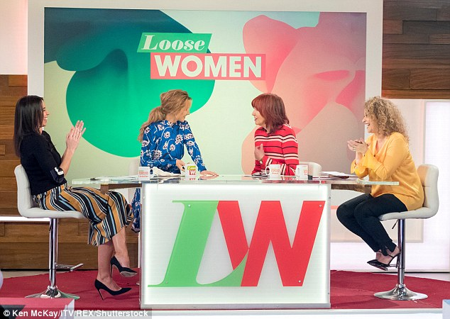 Awkward!As her fellow panellists Christine Lampard, Catherine Tyldesley and Nadia Sawalha giggled in shock, Janet added: 'I mean, I'm not a big fan of Cheryl... I'd better not say any more'