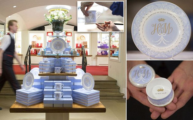 Prince Harry and Meghan Markle´s official wedding china goes on sale