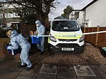 Forensic officers at a property in South Road, Twickenham (Jonathan Brady/PA)