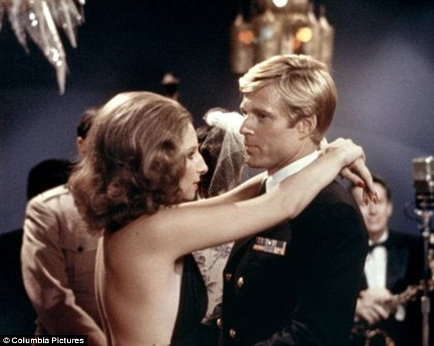 Dazzling: She co-starred with Robert Redford in the classic film The Way We Were
