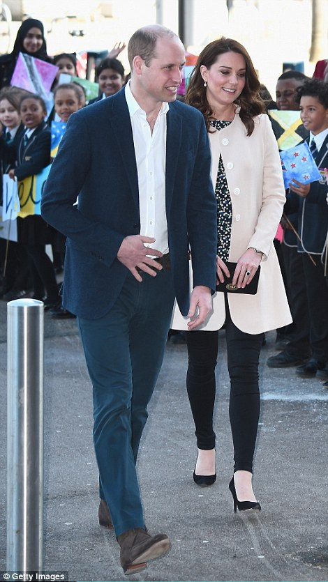 Kate and William looked delighted to be working together today