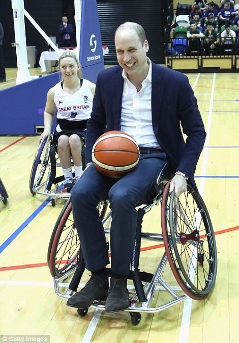 Rather than sitting on the sidelines, Prince William was eager to get involved in the game