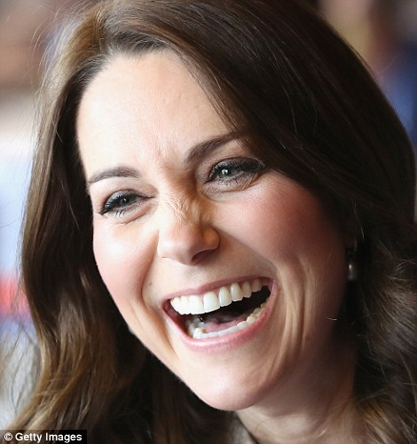 Pregnant Kate was in cheerful spirits as she took part in a Commonwealth Quiz this morning