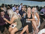 The glamorous revellers were in high spirits at the Rosehill racecourse in Sydney and donned their sharpest attire for a day filled with drinking and placing bets