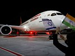 Saudi Arabia opened its airspace for the first time to a commercial flight to Israel on Thursday with an Air India route (pictured) flying non-stop between New Delhi and Tel Aviv - a sign of a behind-the-scenes improvement in ties between the Arab kingdom and the Jewish state