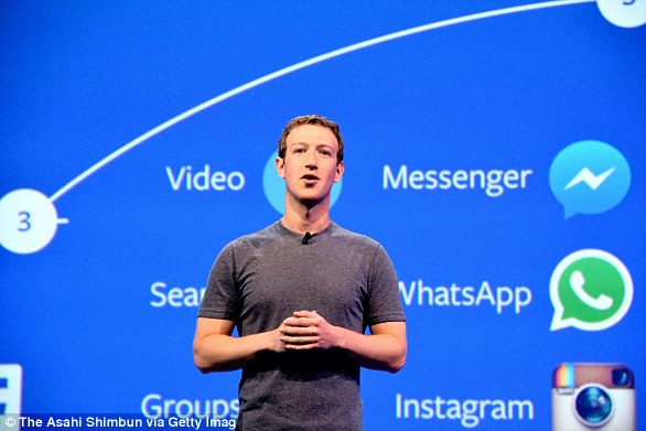 If you want to keep your personal data you need to download it before deleting your account. Pictured isMark Zuckerberg